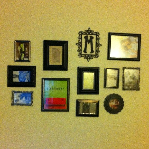 My new photo wall! Just need to print out some pictures :)