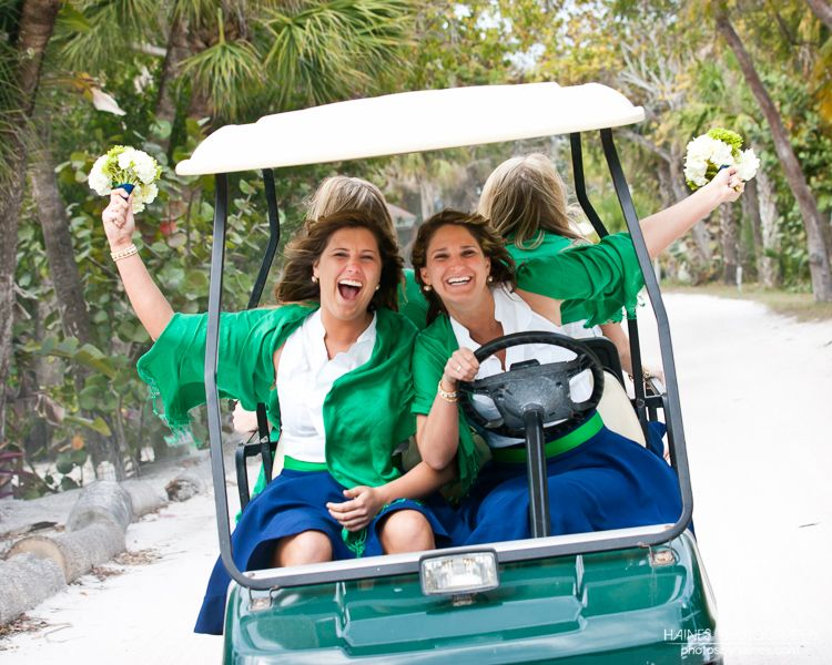 Transportation on the island was by golf cart north