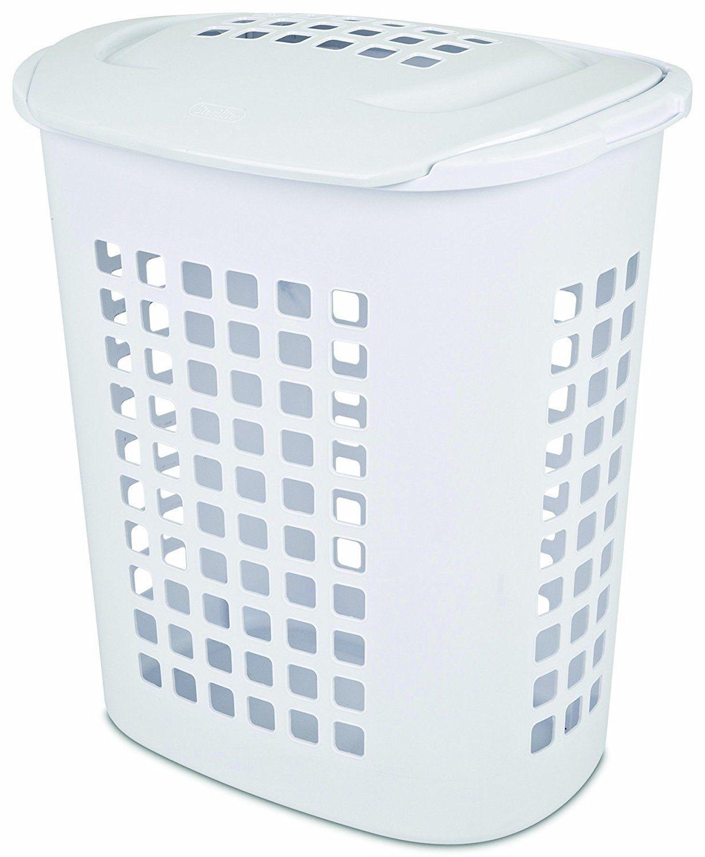 Sterilite 12218004 Laundry Hamper Plastic White Con Imagenes