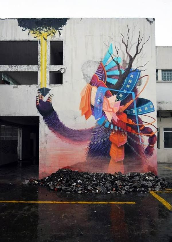 El Curiot In Mexico Urban Wall Art Street Art Urban Art Wall