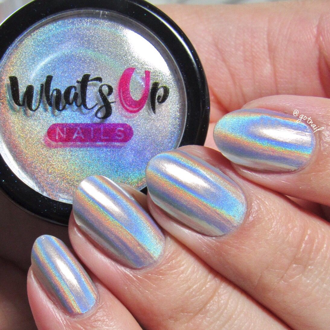 Holographic Powder | Uñas metálicas, Uñas brillantes y Diseños de uñas