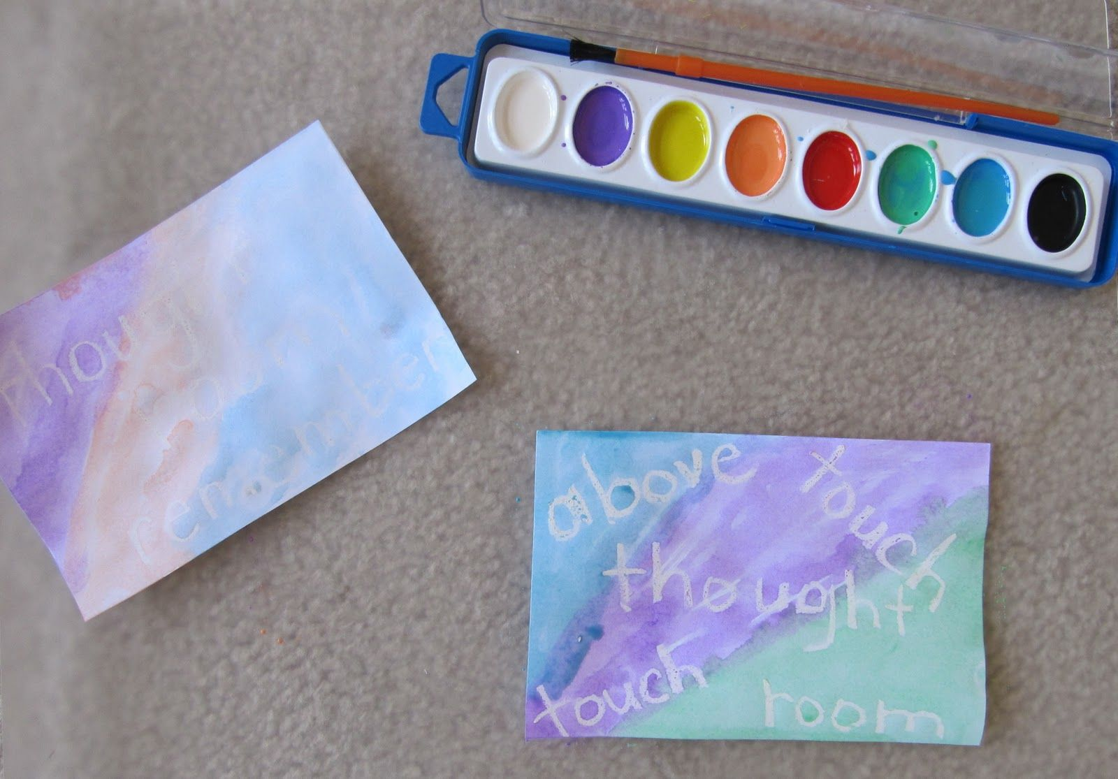 Water Colors Amp Crayon Resist For Sight Words
