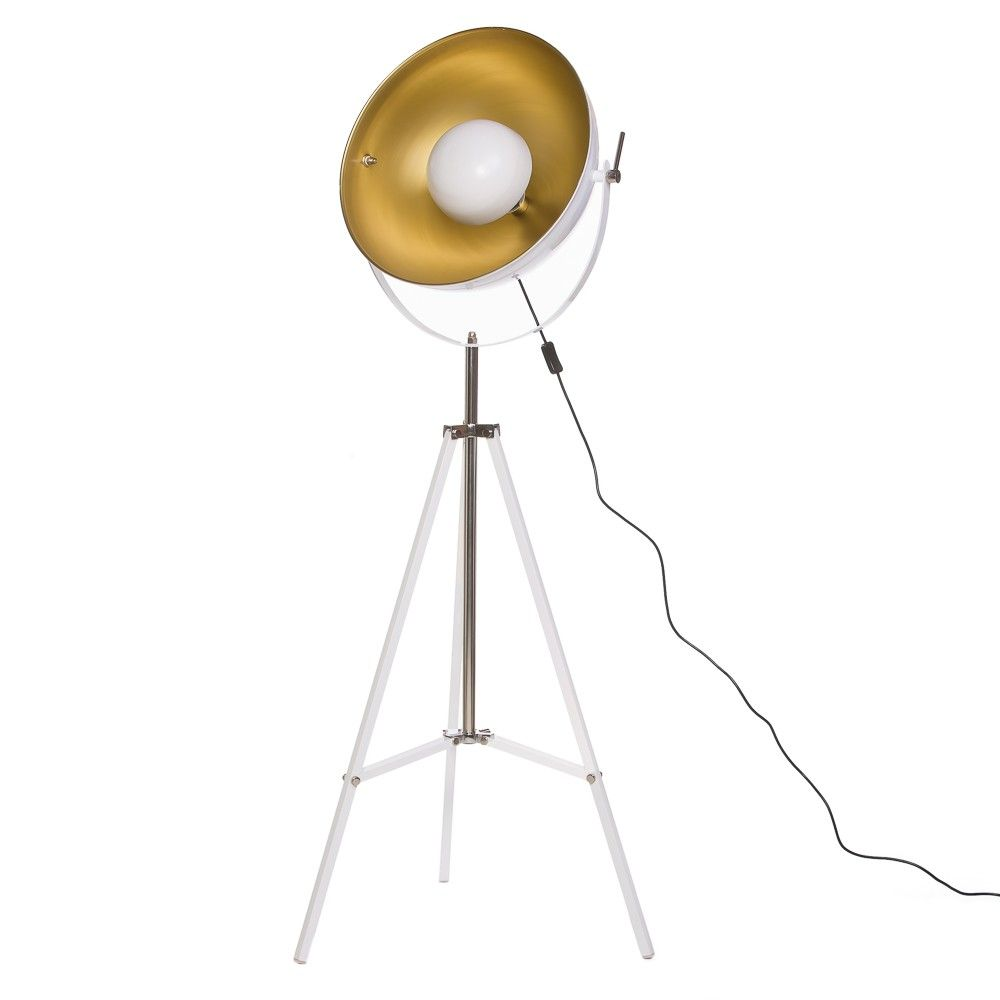 Archie Photographic Tripod Floor Lamp in White | Office Design ...