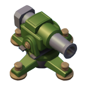 the cannon is a basic single shot defence cannon tips the cannon