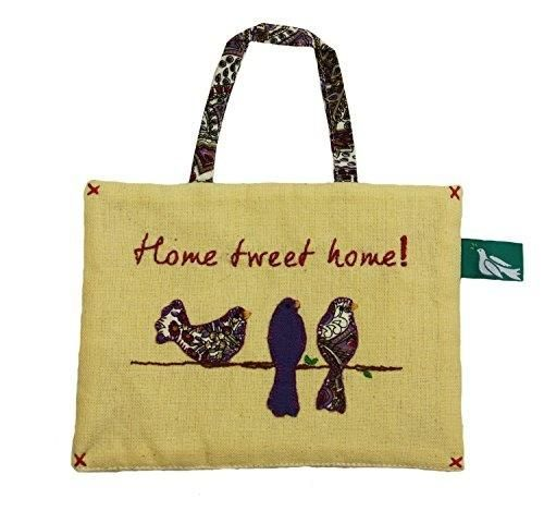 Home Tweet Home Birds Wire Fabric Wall Art Fair Trade From India ...