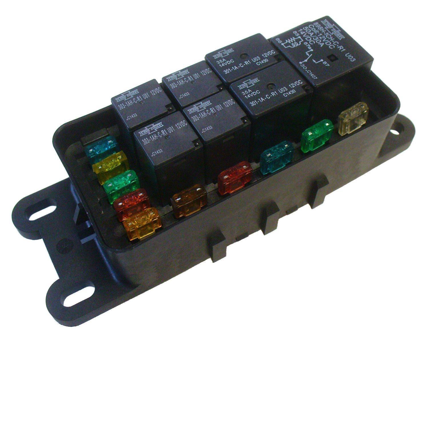 small resolution of waterproof sealed fuse relay panel block atv utv car truck 12v off road tractor ebay