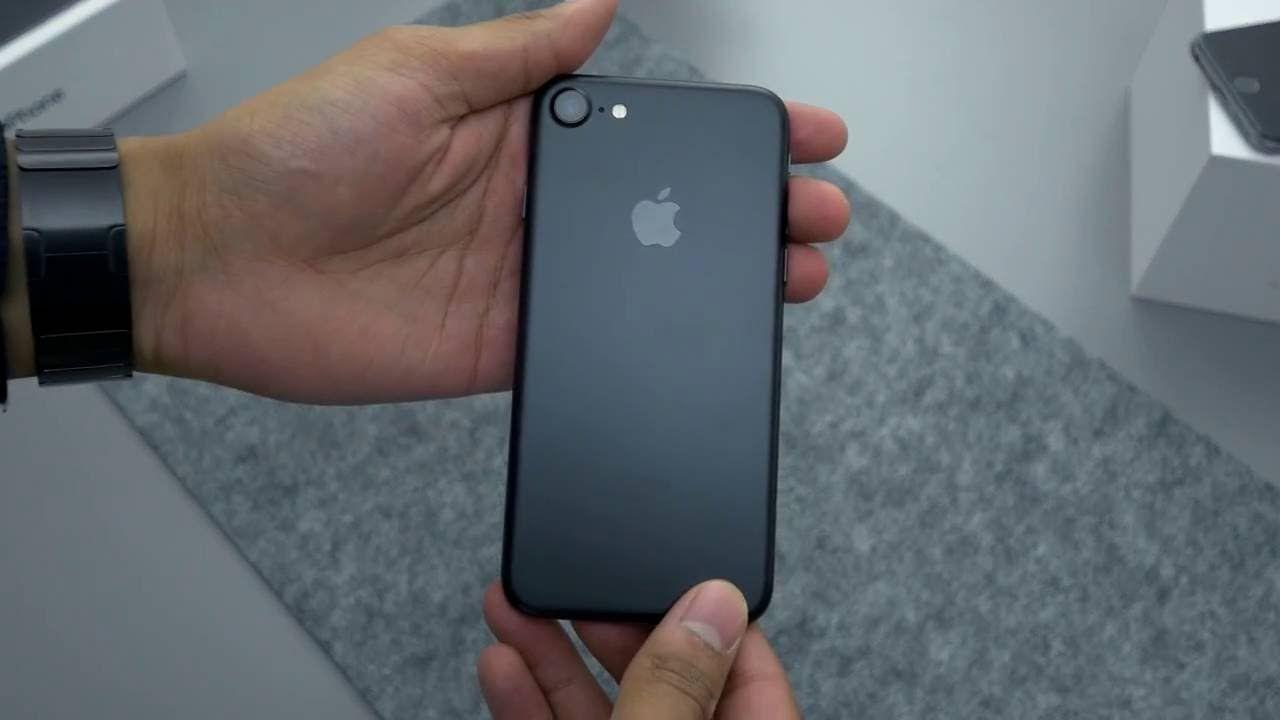 Matte Black Iphone 7 Unboxing