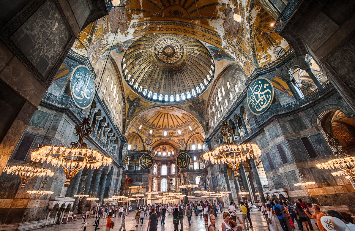 Formerly a Greek Orthodox Christian basilica and Imperial Mosque, The Hagia Sophia Museum – Istanbul, Turkey [OS] [1195 X 778]