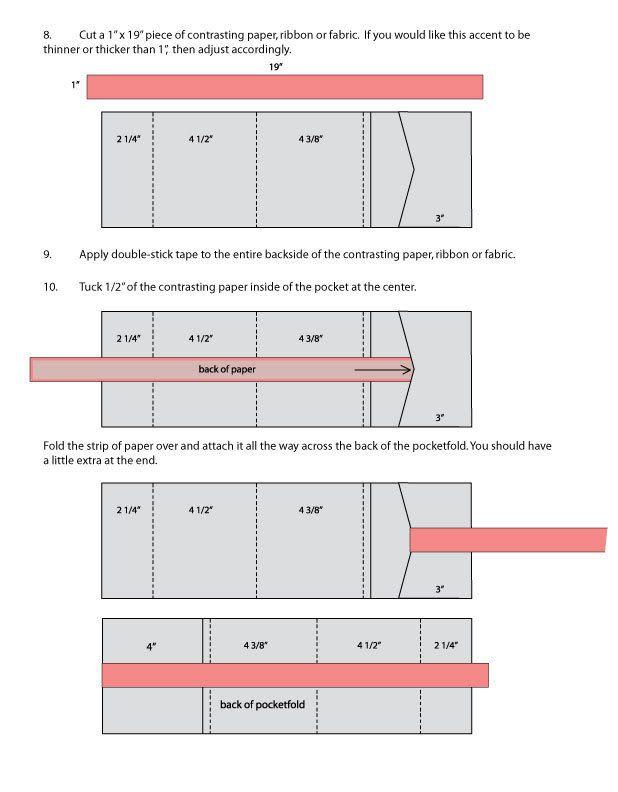DIY Pocketfold Invitation | Pocketfold invitations, Custom envelopes ...