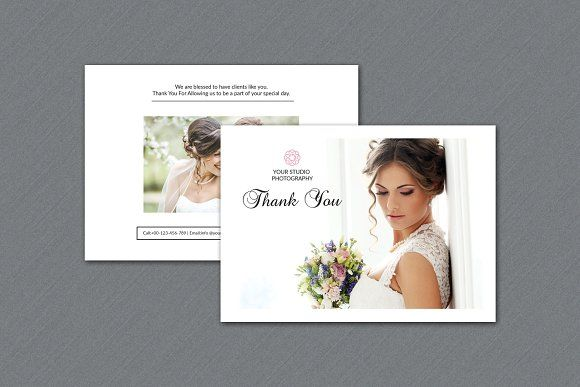 Photographer Thank You Card V325 By Template Shop On Creativemarket