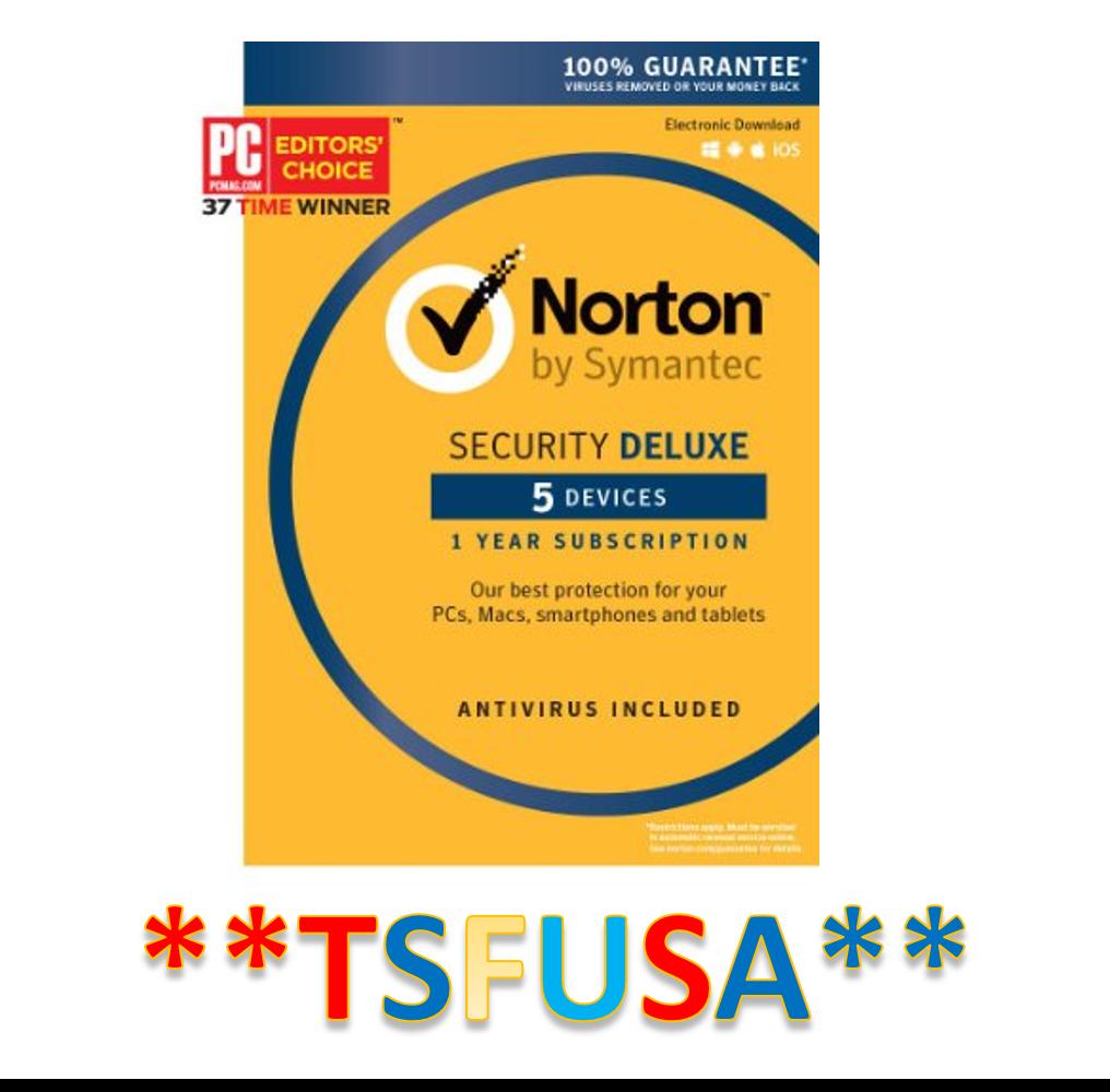 Symantec Norton Security Deluxe 5 Devices Pcs Mac Ios Android Card 1 Year Android Card Year Devices Delux Norton Security Norton Internet Security Devices