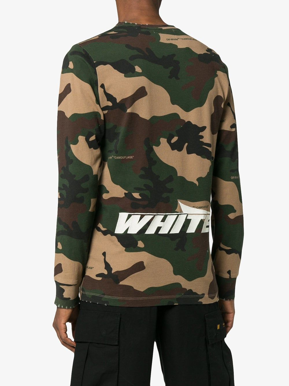 82eb57d47a3b OFF-WHITE camouflage print long sleeve t-shirt
