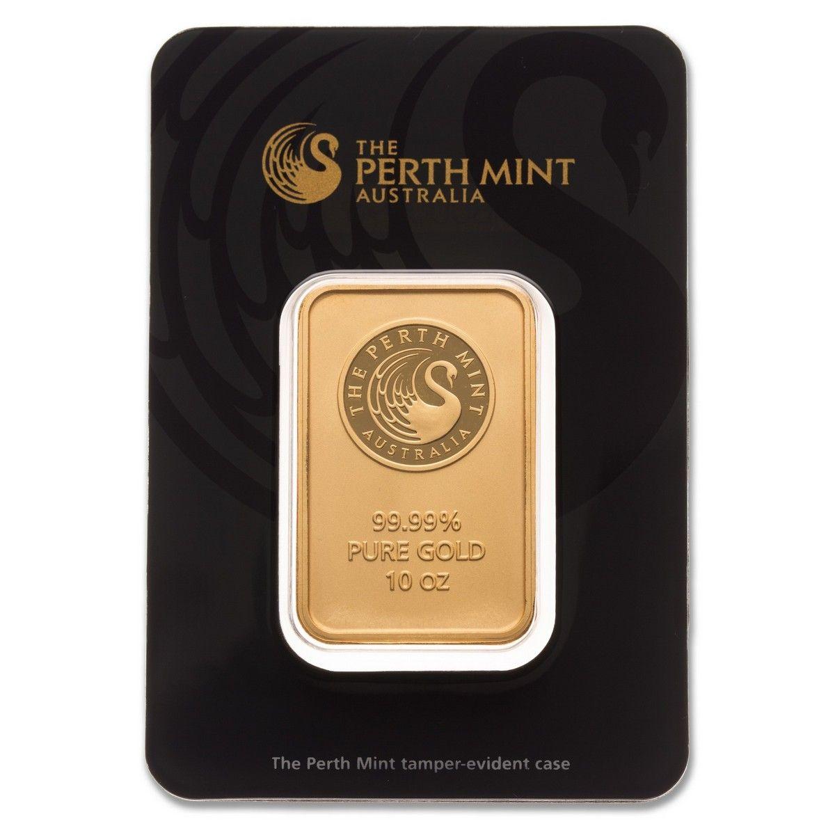Perth Mint Gold Bar 10 Oz 9999 Canadian Pmx Mint Gold Mint Gold Bullion