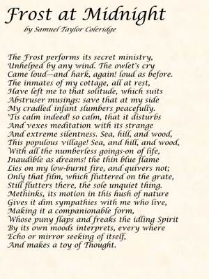 Poem Frost At Midnight By Samuel Taylor Coleridge