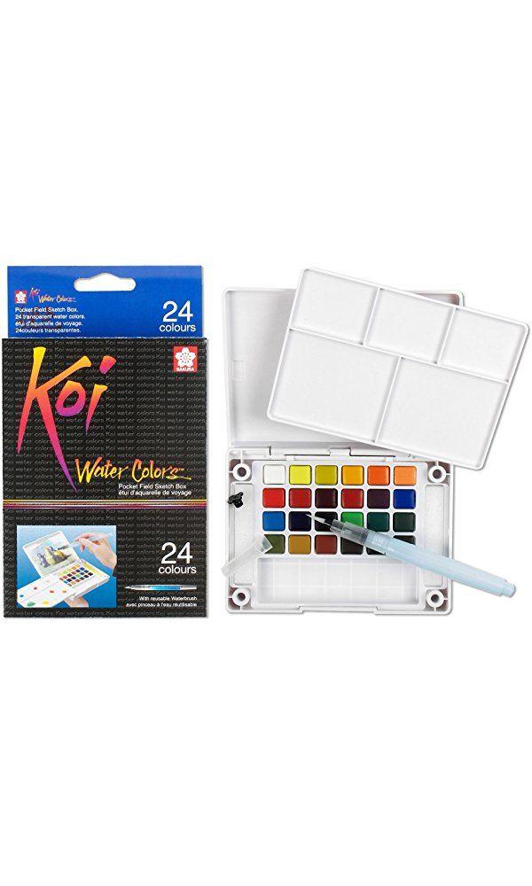 Sakura Xncw 24n 24 Assorted Watercolors Field Sketch Set With