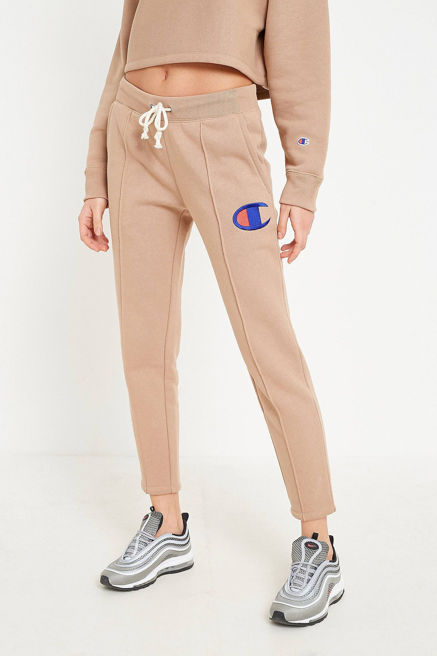 Champion Light Brown Tapered Track Joggers Joggers Champion Dance Outfits