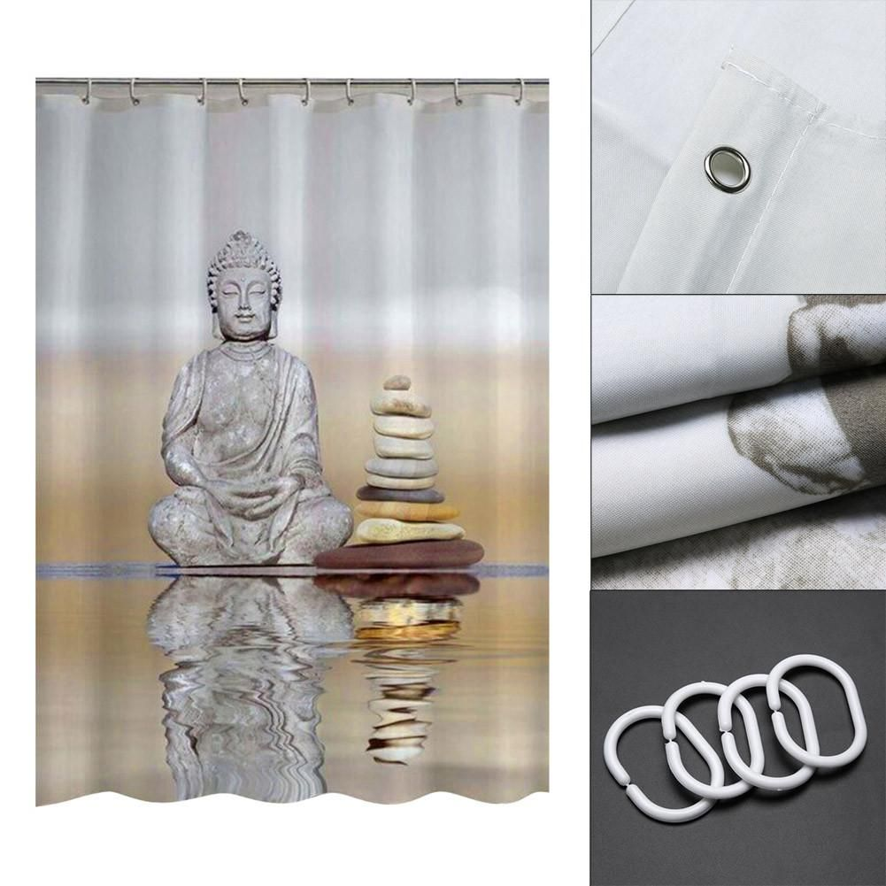 Calming Buddha Shower Curtain Custom Shower Curtains Curtains