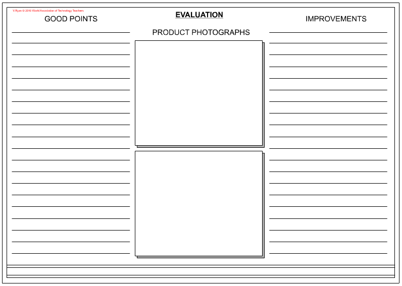 Design U0026 Technology An Evaluation | Evaluation Worksheet Design Technology  Along With Worksheet Place 5 . Product DesignWorksheets