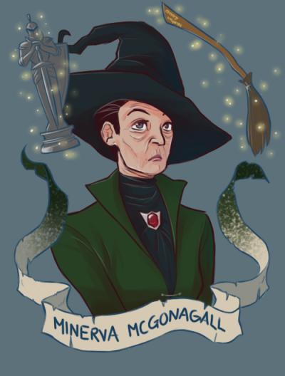 Resultado de imagen de Minerva Mcgonagall ilustracion