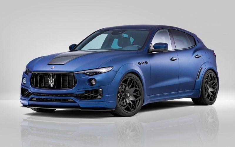 Blue Car Maserati Levante Luxurious Car Maserati Maserati