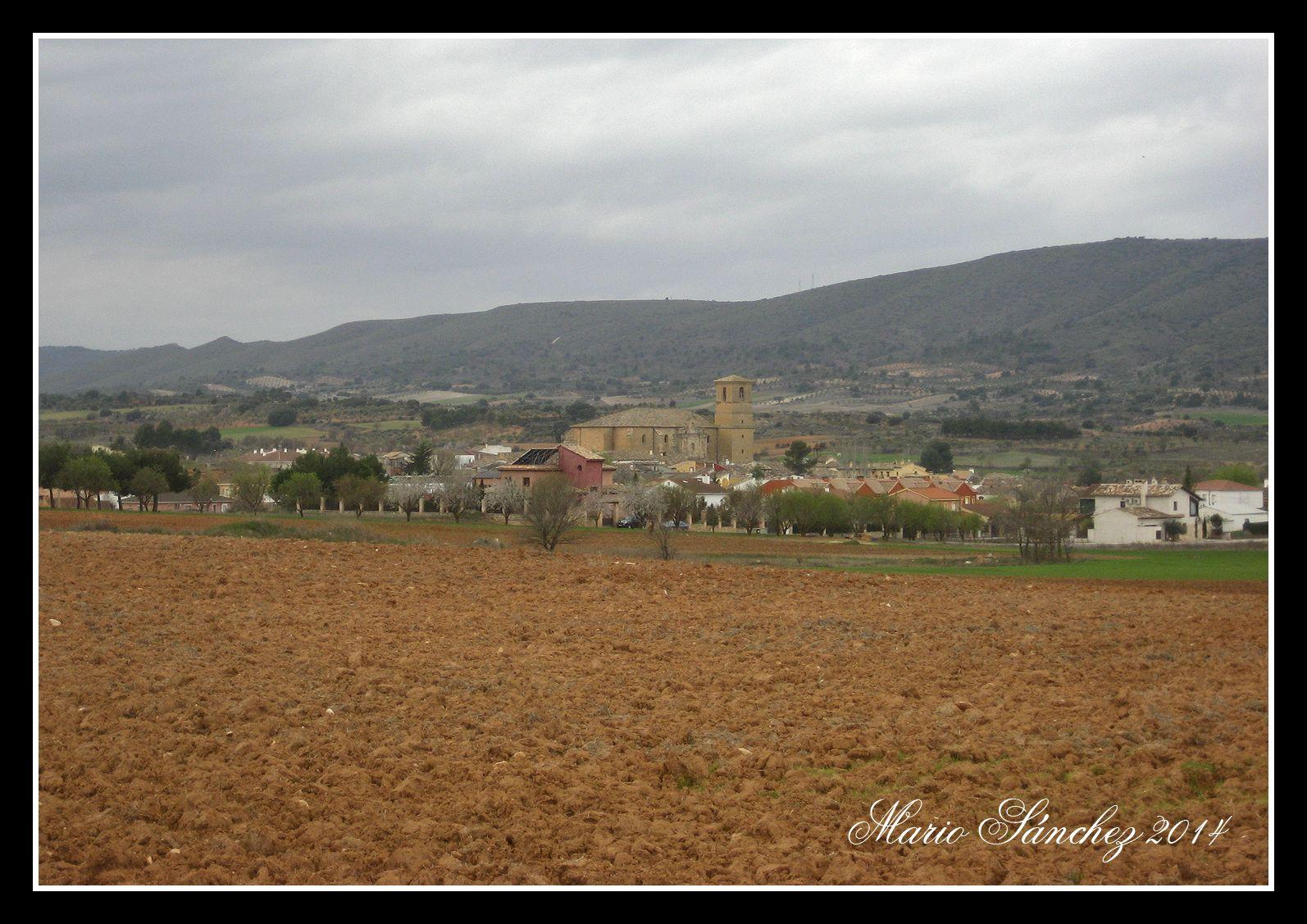 Buendía desde el camino al antiguo pueblo de Santa María de Poyos