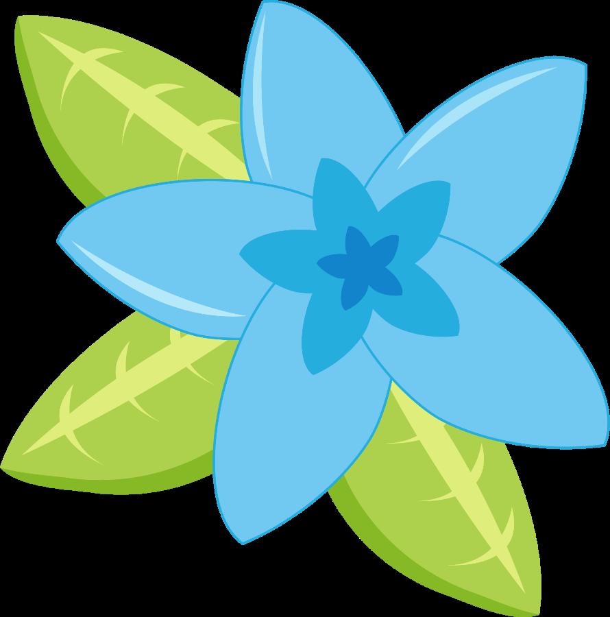 Jwi Beachbunnies Flower Blue Png Flower Clipart Flower Drawing Clip Art