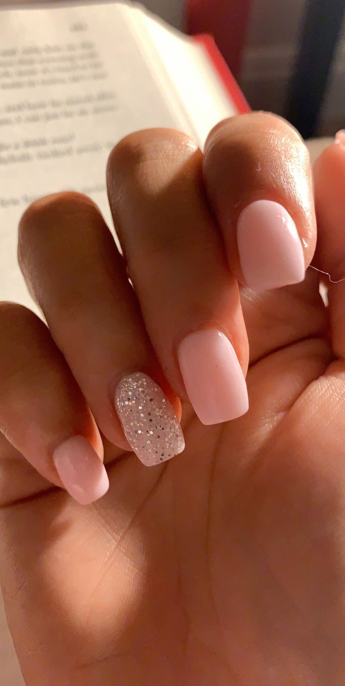 Photo of Pink Powder Acrylic Nails . Pink Powder Acrylic Nails