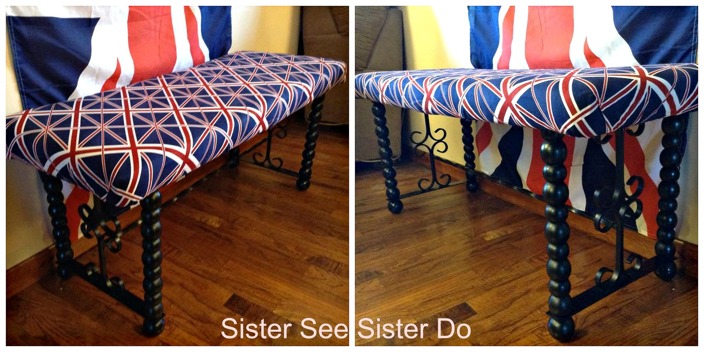 Union Jack British Bench