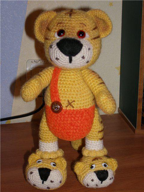 Tiger in slippers | Amigurumi / DIY Toys Crochet & Knitted ...