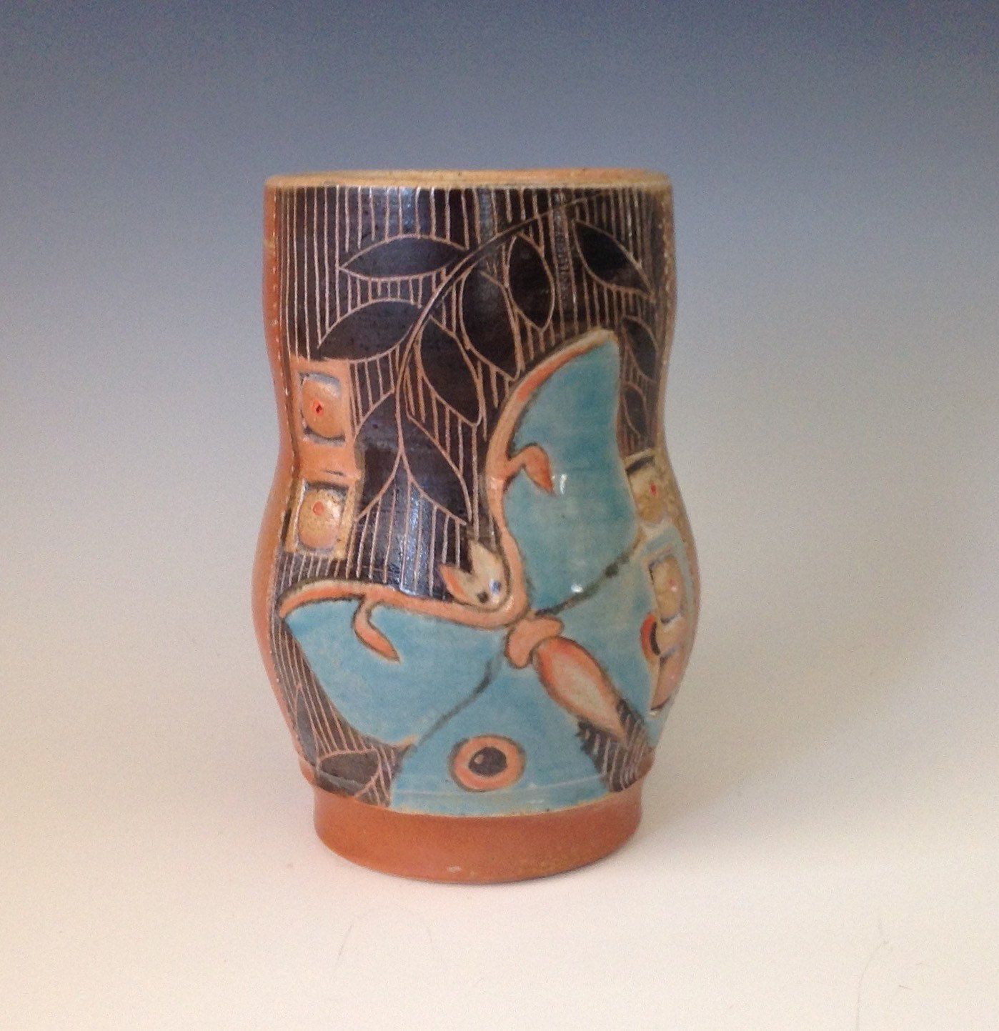 Pottery luna moth vase handmade ceramic vase pottery vase hand pottery luna moth vase handmade ceramic vase pottery vase hand painted vase reviewsmspy
