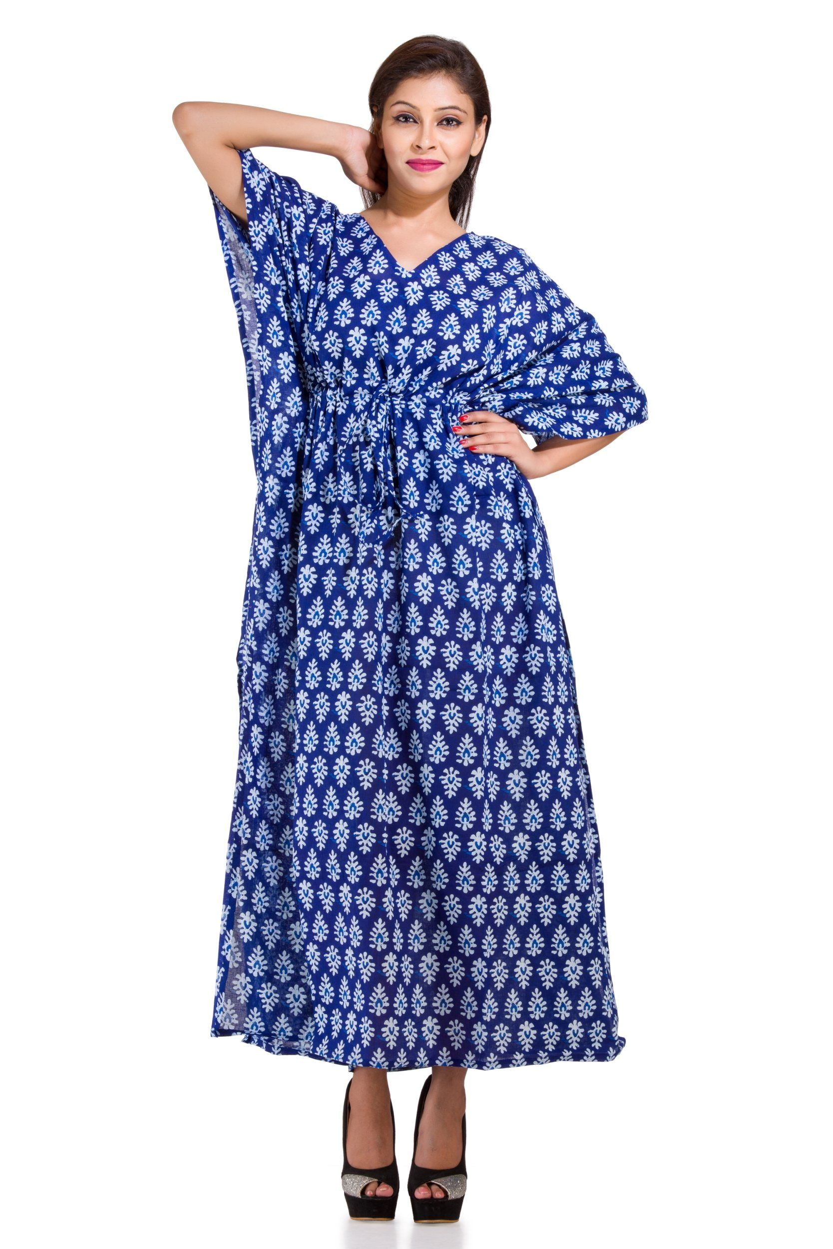 0bb95998ac This Beautiful Kaftan or can be called as Tunic is made with super fine  quality cotton and designs have been crafted by Hand Screen Printed.