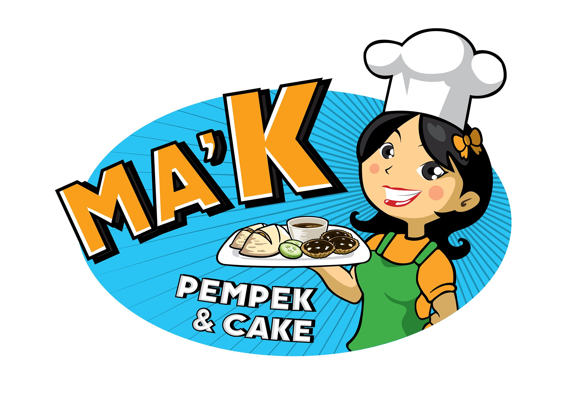 Ma K Pempek Cake Logo Desain Logo Desain Abstrak