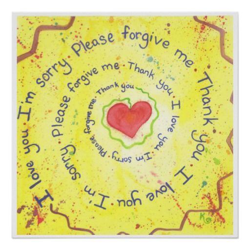 Ho'oponopono prayer poster
