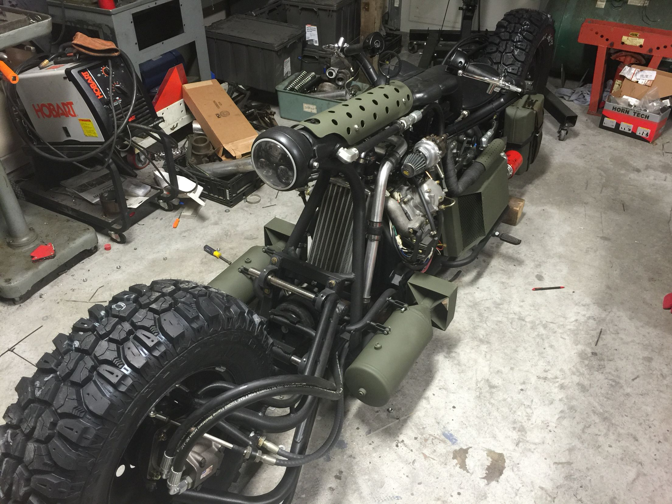 New tires for the diesel motorcycle