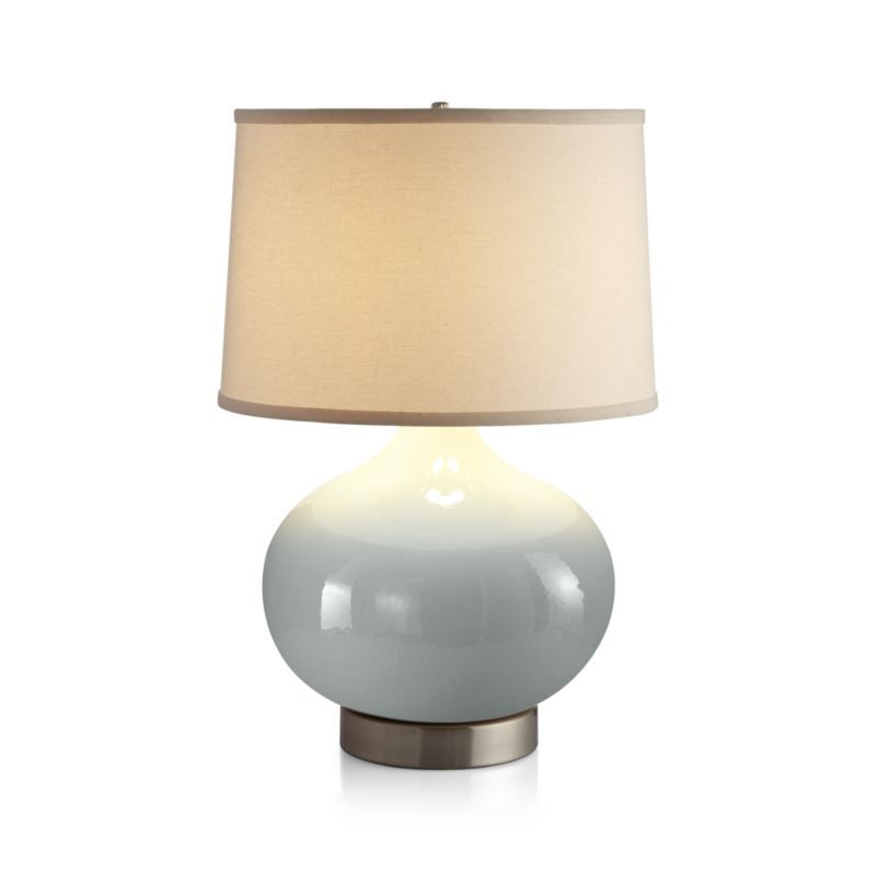 Merie Blue Table Lamp With Nickel Outlet Base Outlets And Products
