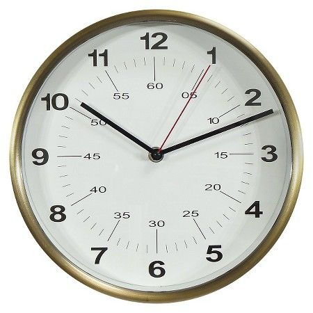 Wall Clock Warm Brass 10 Threshold Target Wall Clock Design Unique Wall Clocks Wall Clock