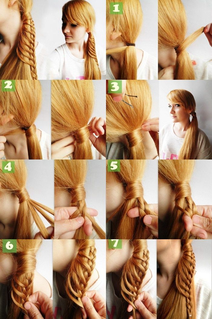 Chic side braid ponytail hairstyle pinterest side braid it is quite original and interesting hairstyle and quite simple to make all by yourself great idea to add some highlights to everyday plain ponytail with solutioingenieria Image collections