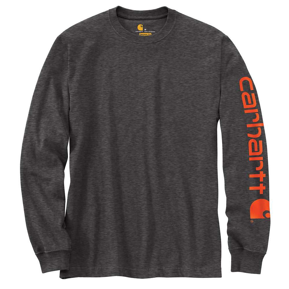 Carhartt Men S Tall X X Large Carbon Heather Cotton Polyester Long Sleeve T Shirt K231 Crh In 2020 Carhartt Shirts Carhartt Mens Long Sleeve Shirts