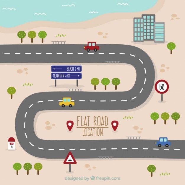 Road trip proyecto para ni os mapas de carreteras - How to be a graphic designer from home ...