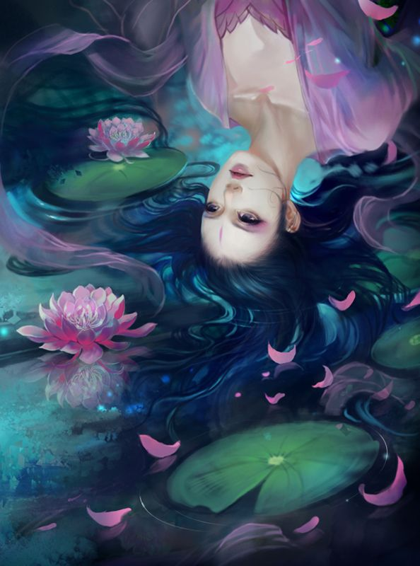 Lotus Beauty Green Girl Gorgeous Art Ultra 3840x2160 Hd Wallpaper ...