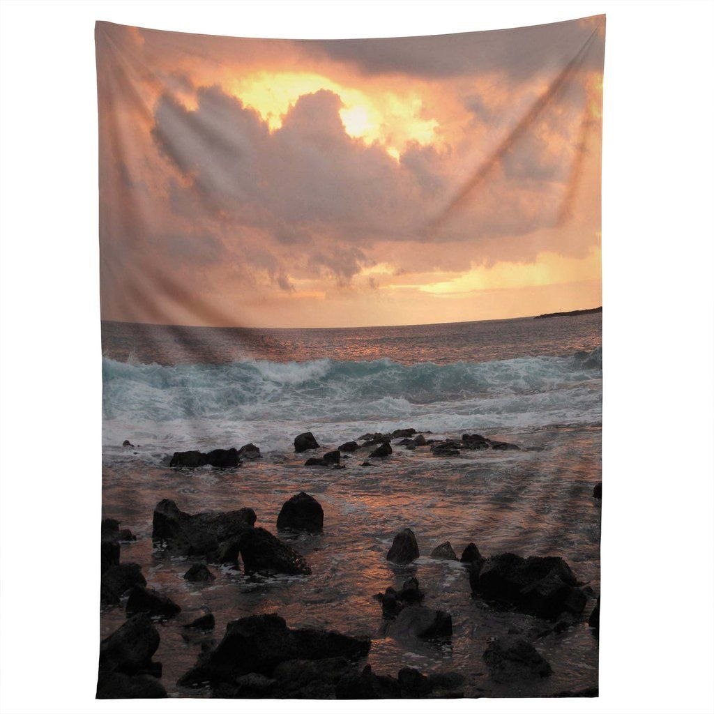 Deb Haugen Maui Gold Tapestry is part of Gold Home Accessories Life -