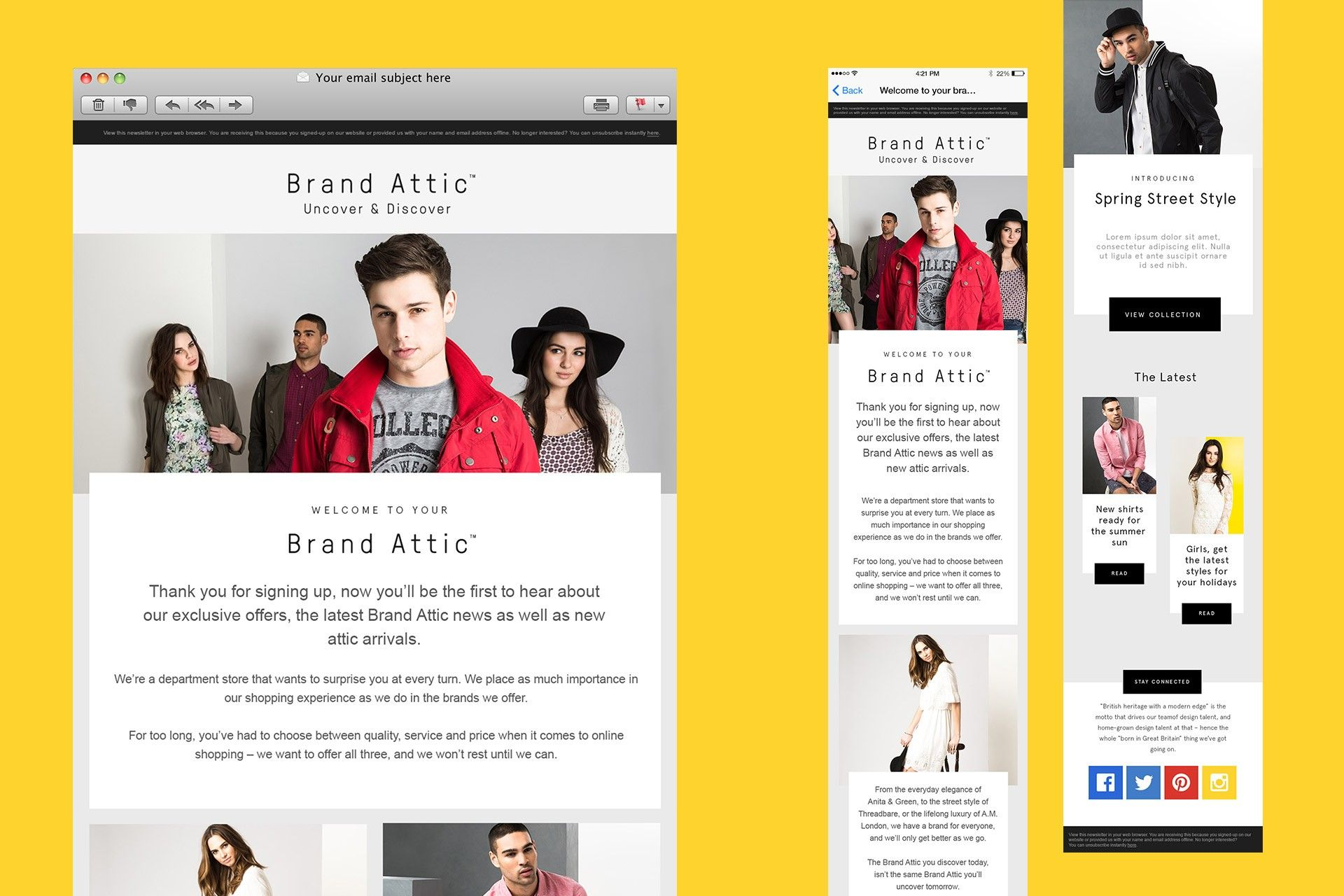 Brand Attic A New Department Store Brand That Is Versatile Exciting And Accessible From Ahoy Brand Digital Marketing Department Store
