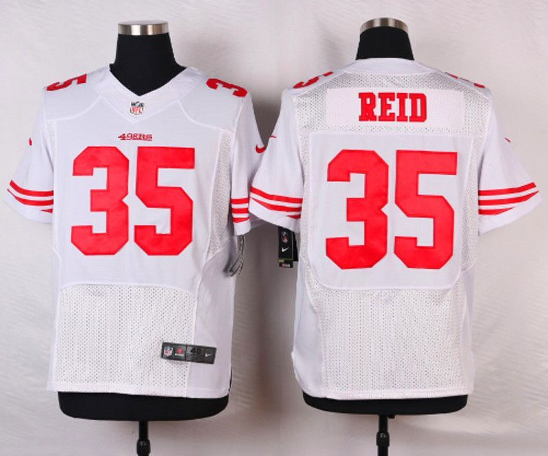 472a7a88a63 NFL Customize San Francisco 49ers 35 reid White Men Nike Elite Jerseys