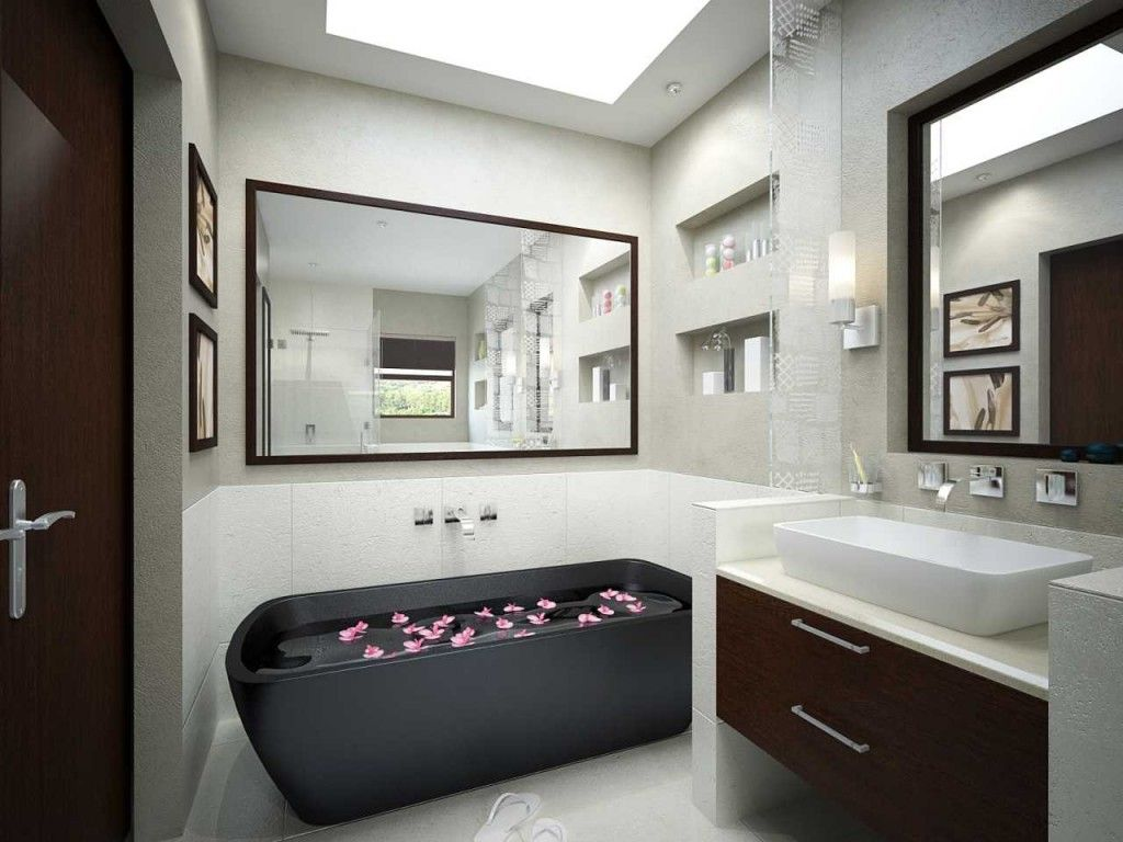 This Bathroom Design Is Very Cool With The White Color Looks Beautiful Small Bathroom Id Bathroom Design Layout Bathroom Design Software Bathroom Design Luxury