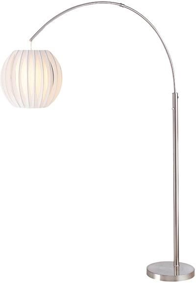 Arch Lamp Ps W White Shade E27 Cfl 23w Sku V146 Ls 8870ps Wht Light Brite Distributing Inc Arched Floor Lamp Arch Lamp Lamp