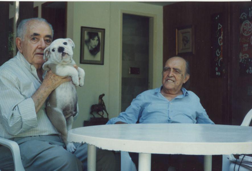Athos Bulcão e Oscar Niemeyer