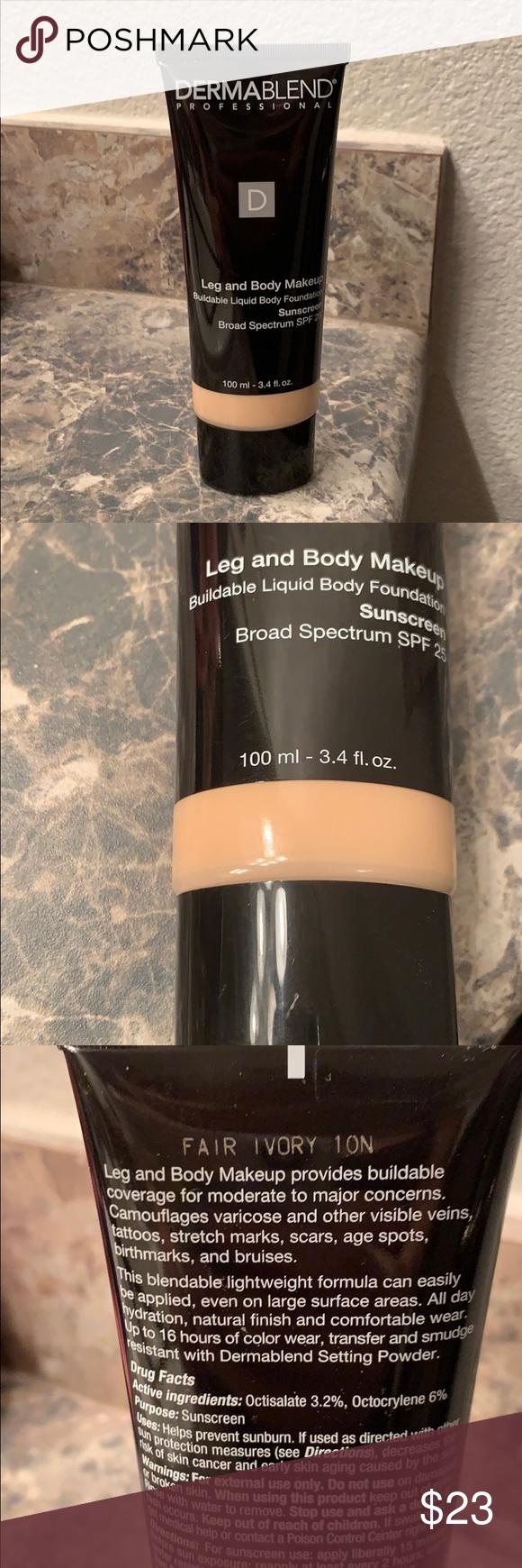 Dermablend Leg and Body Makeup Foundation Dermablend Leg
