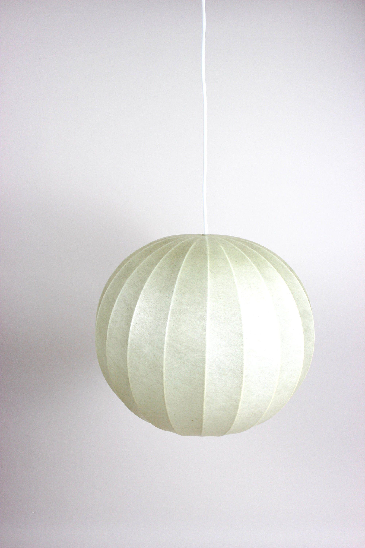 Mid Century Cocoon Lampe Lampenschirm Hangelampe Etsy Lamp Paper Lamp Novelty Lamp
