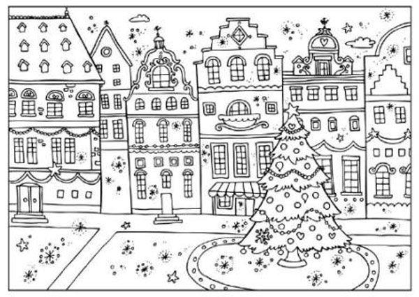 5 simpticos dibujos de Navidad para colorear  Xmas Navidad and