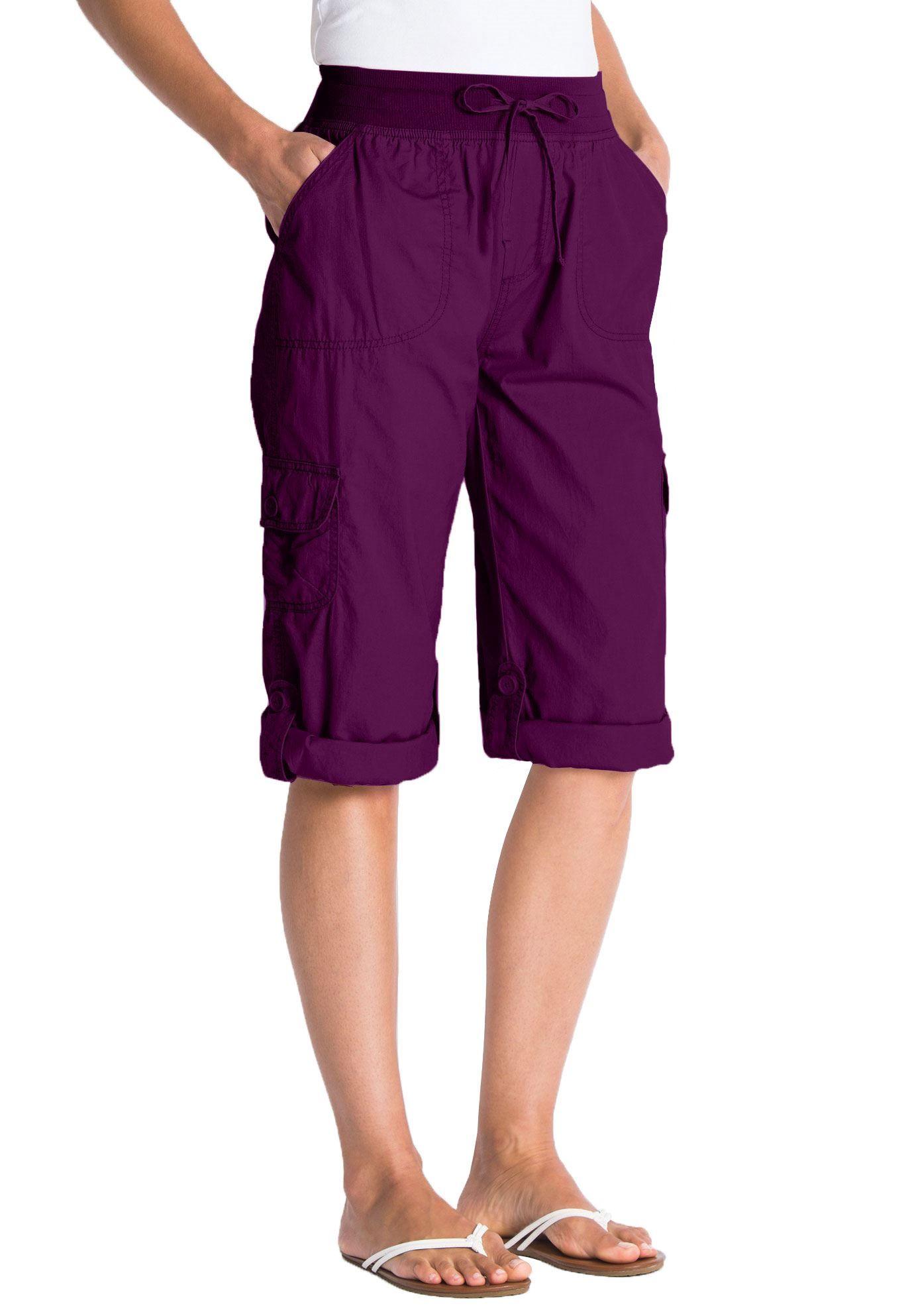 petite capri pants in convertible lengths - women's plus size